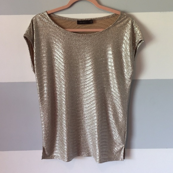 The Limited Tops - Gold Metallic Tee
